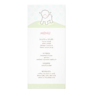 Little Lamb Baby Shower Menu