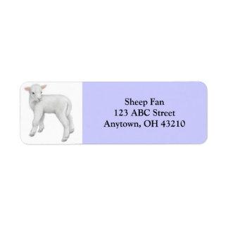 Little Lamb Customizable Label Return Address Label