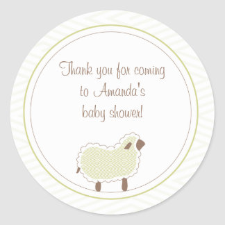 Little Lamb Favor Sticker