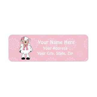 Little Lamb Return Address Label