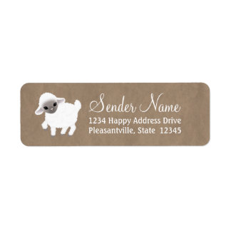 Little Lamb Return Address Labels