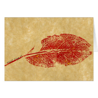 """""""Little Leaf"""" Country Greeting Card"""