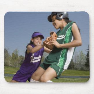 Little league softball game mousepads