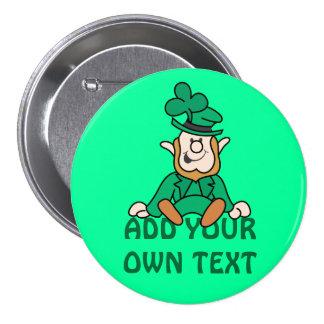 Little Leprechaun - Add Your Own Text 7.5 Cm Round Badge
