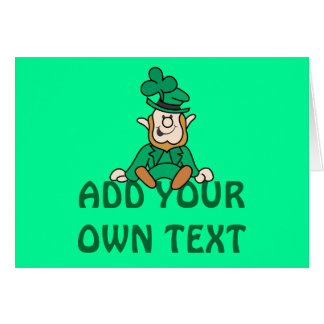Little Leprechaun - Add Your Own Text Card