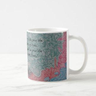 Little Lines Basic White Mug