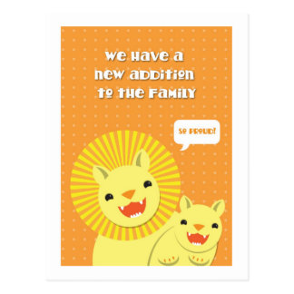 Little lion New addition to the family SO PROUD Postcards
