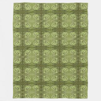Little Lizard Vintage Tile Fleece Blanket