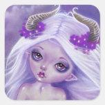 Little Luna girl  moon purple sticker
