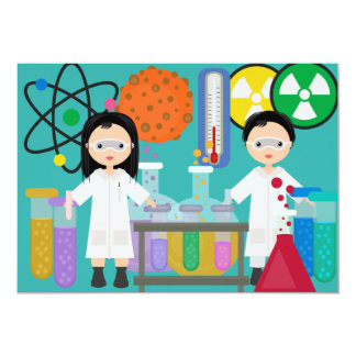Little Mad Scientists Birthday Invitation