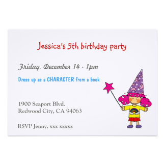 Little magician birthday party custom announcements