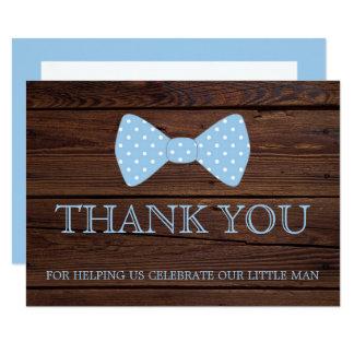 Little Man Baby Shower | Bowtie Thank You Card