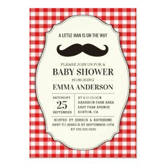 Little Man Baby Shower Invitation Boy - Mustache