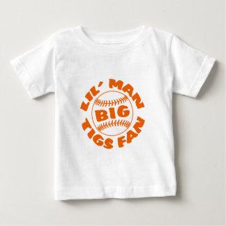 Little Man BIG Tigers Fan Baby T-Shirt