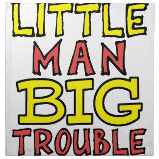 Little man big trouble kid design napkin