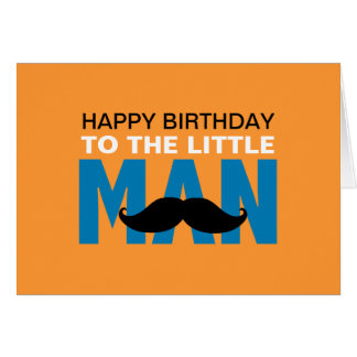 Little Man Birthday Card