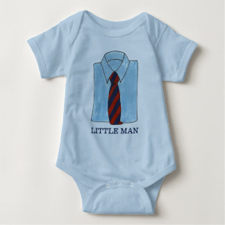 Little Man Blue Shirt Tie Menswear Fashion Boy