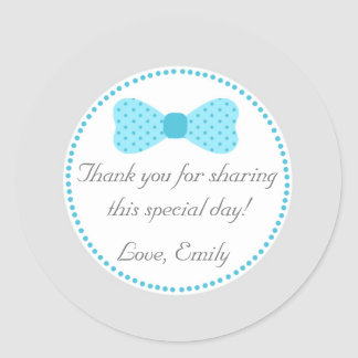 Little Man Bow Tie Favour Label Thank You Sticker