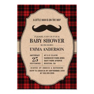 Little Man Boy Baby Shower Invitation - Mustache