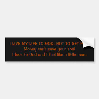 Little man bumper sticker