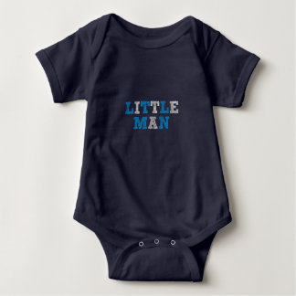 Little Man, chalkboard new baby boy photo prop Baby Bodysuit