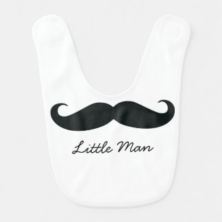 Little Man Mustache Baby Bib