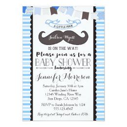 Moustache baby shower invitations announcements zazzle little man mustache baby shower invitation filmwisefo Gallery