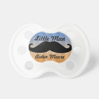 Little man Mustache custom pacifier