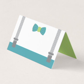 Little Man Place Cards, Food Cards