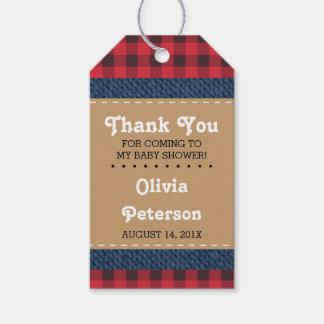 Little Man Thank You Tag, Lumberjack