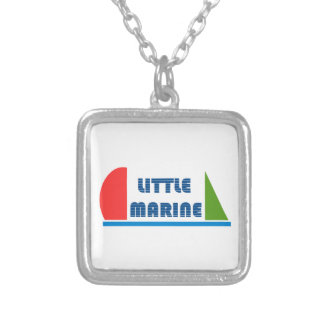 little marine silver plated necklace