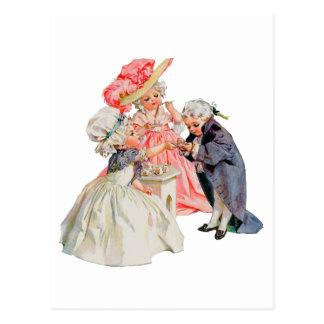 Little Martha Washington's Tea Party Postcard