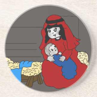 Little Mary and Jesus Drink Coasters