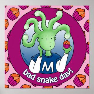 Little Medusa. Bad snake day Posters