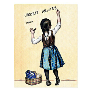 Little Menier Chocolat Girl Postcard