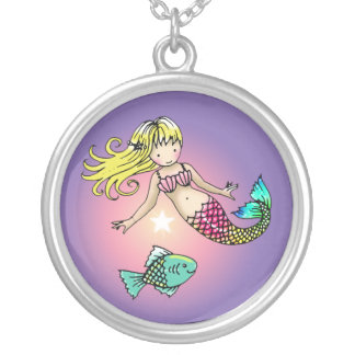 Little Mermaid and Fish Necklace