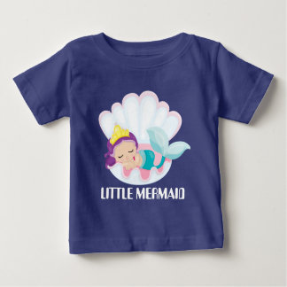 Little Mermaid baby girl add text bodysuit