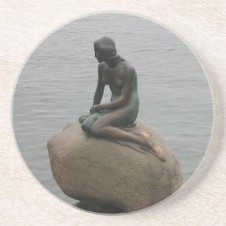 Little Mermaid Copenhagen Coaster