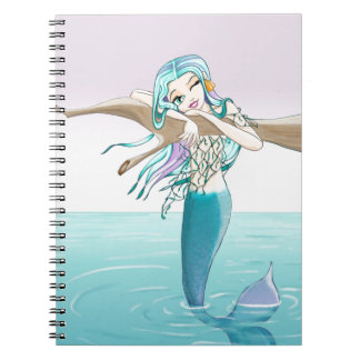 Little Mermaid Items Spiral Notebook