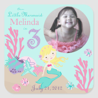 Little Mermaid Photo Sticker Blonde 3