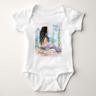 Little Mermaid Pink Baby Bodysuit