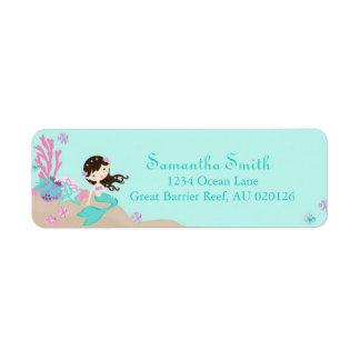 Little Mermaid Return Label Brunette