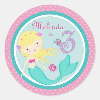 Little Mermaid Sticker Blonde 3B
