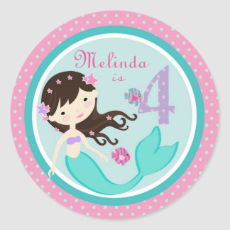 Little Mermaid Sticker Brunette 4B