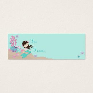 Little Mermaid TY Gift Tag S Brunette