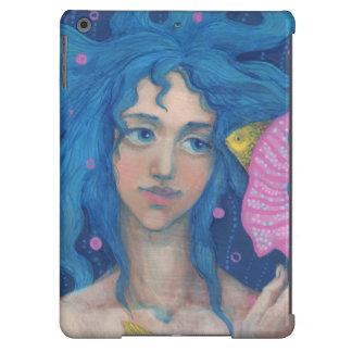 Little Mermaid, Underwater Fantasy Art, Pink Blue iPad Air Cases