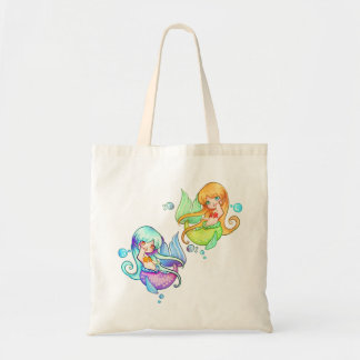 Little Mermaids Moonlight and Sunset Tote Bag