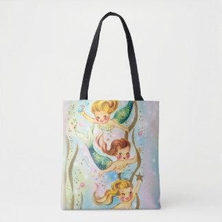 Little Mermaids Swimming - Beautiful tote bag