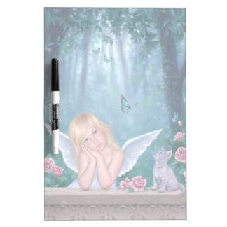 Little Miracles Angel & Kitten Dry Erase Board