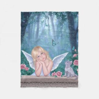 Little Miracles Cute Angel Girl Fleece Blanket